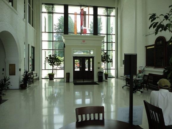 Jackson County Public Library Atrium (front door)