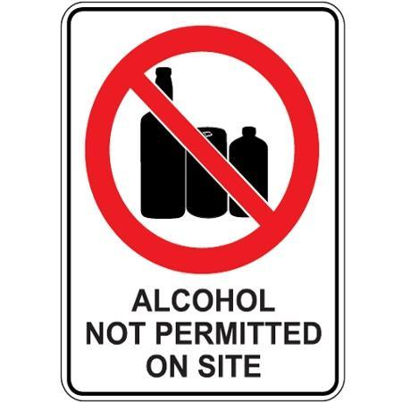 No alcohol permitted on site