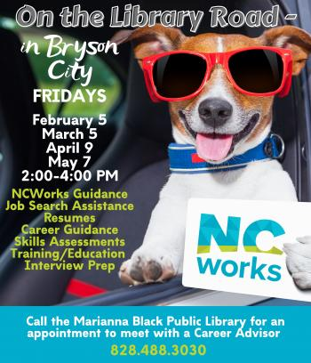 NC Works Assistance at Marianna Black Library in Bryson City