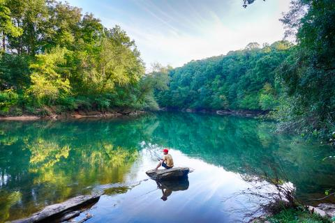 Fishing on the Chattahoochee River, Ga. Photo by Steve Harwood