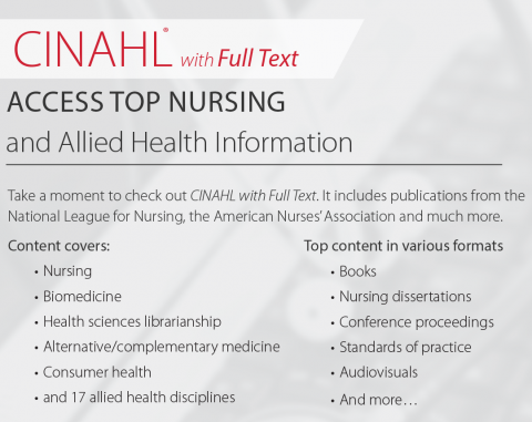 Content tagged with nursing allied health fontana regional database of nursing and allied health journals with additional materials that include nursing dissertations conference proceedings evidence based care fandeluxe Image collections