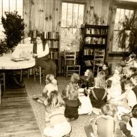 Hudson Librarian, Gert McIntosh - Children's Storytime, 1981