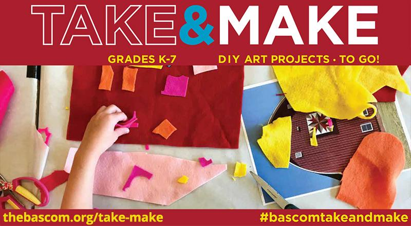 Take and Make from The Bascom for Grades K-7: DIY Art Projects To Go!