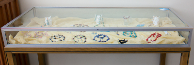 Macon County Library display case - table