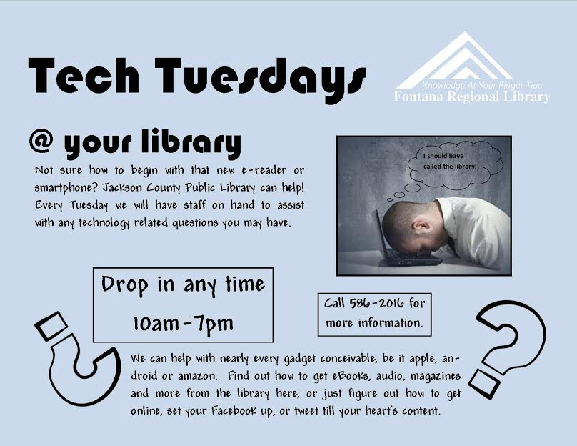 TEch Tuesdays at Jackson county Public Library